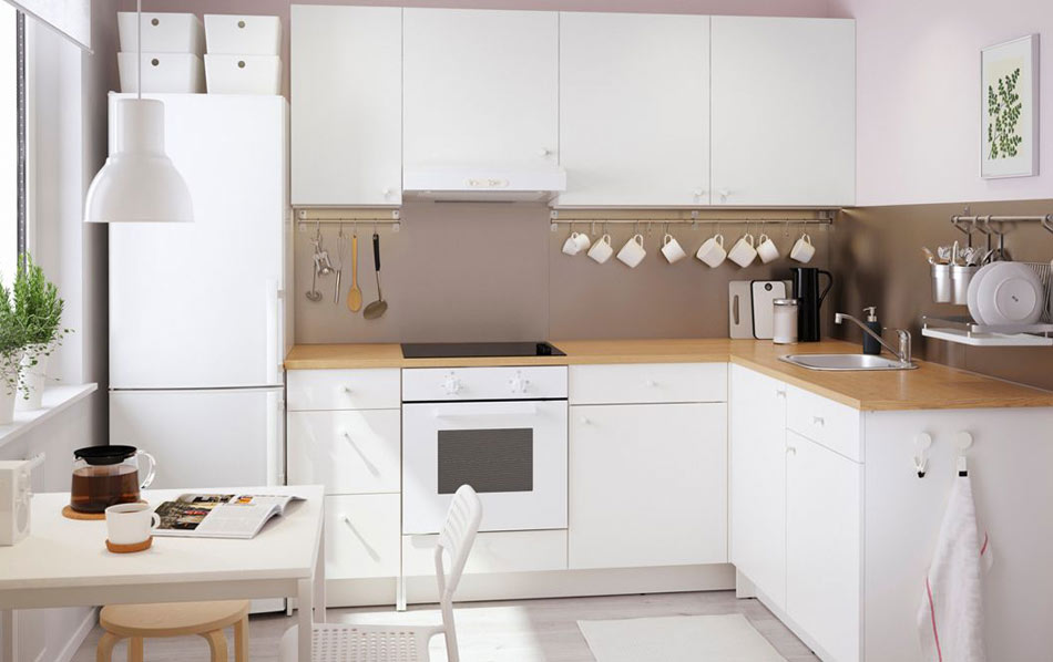 Belle cuisine blanche ikea knoxhult