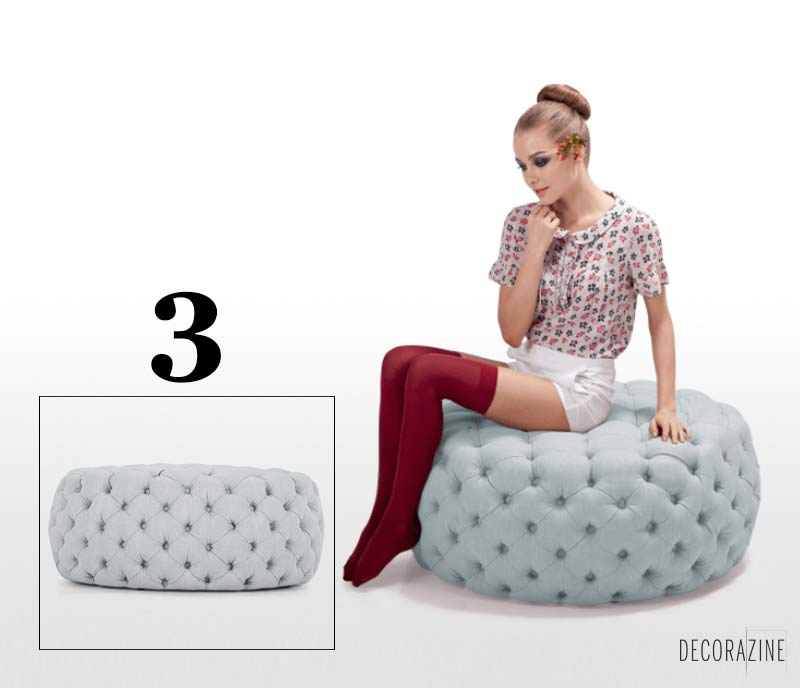Pouf design Blakes de chez Made.com