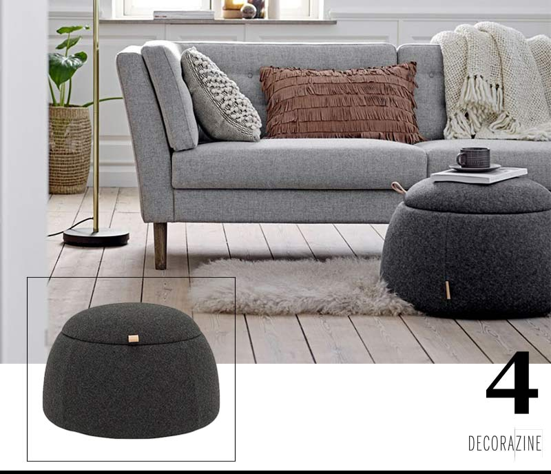 Pouf Rock bloomingville decorazine