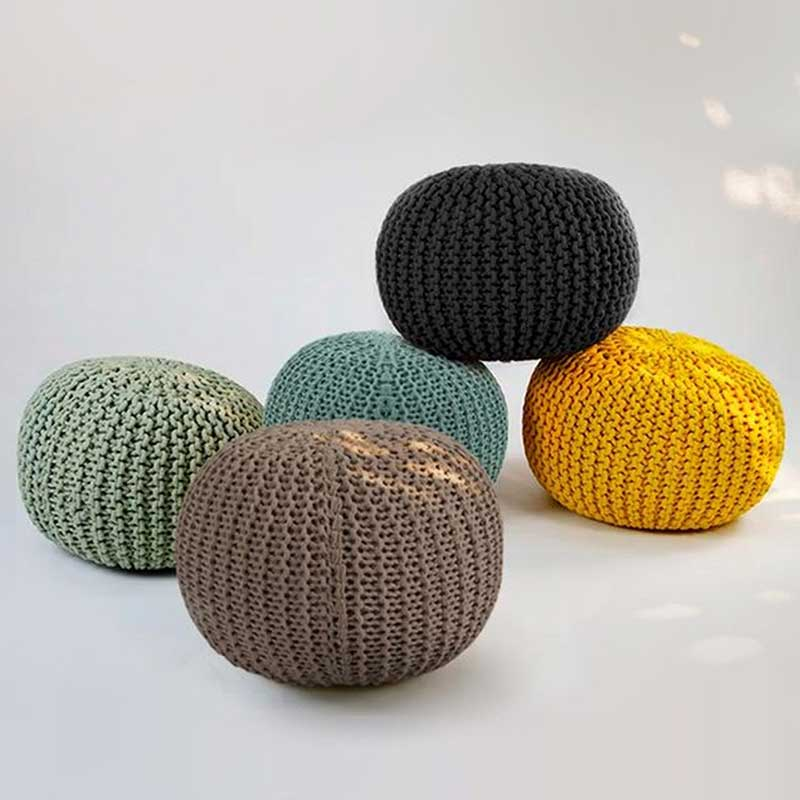 Pouf rond rose Elisa - Decorazine.fr