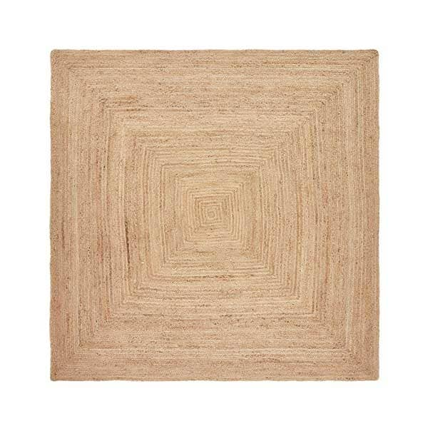 Tapis en jute carré Hempy de AM.PM - Decorazine.fr